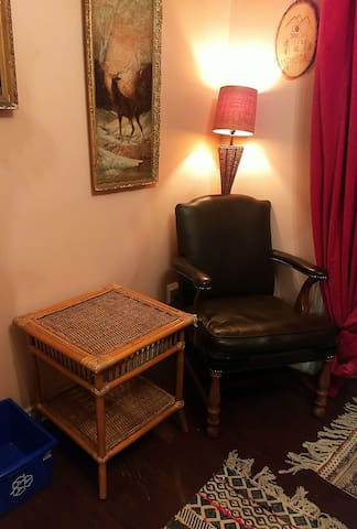 A reading nook / dressing chair for added comfort and convenience.