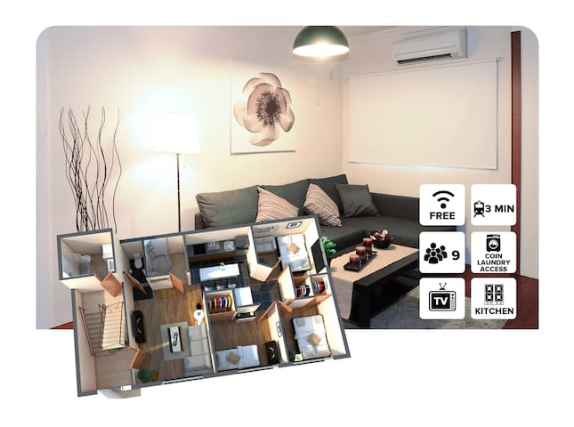 3bedroom apartment with Kitchen near Namba-Monthly