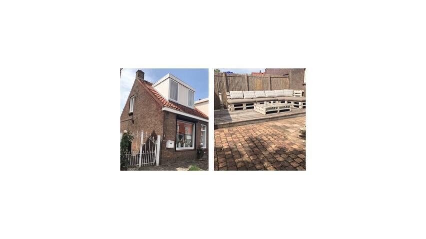 Gezellig hoek huis (200m van het strand)