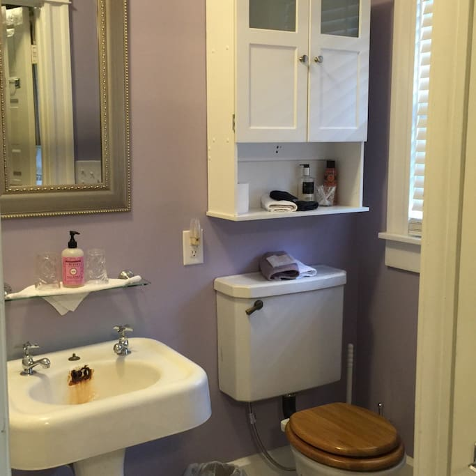 Bathroom includes toiletries and basic essentials