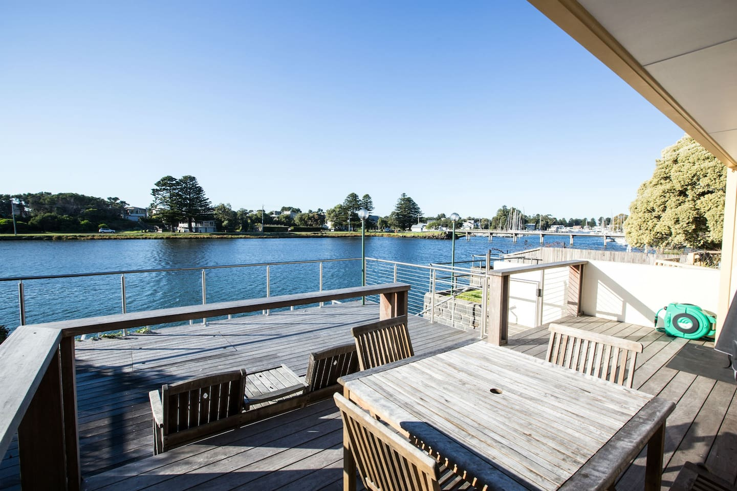 Decking with River Views