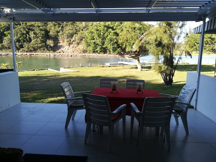 Riverside getaway that's ideal for families.