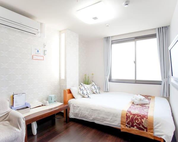 【301】- 3F Namba station cozy room 难波站近高岛屋心斋桥