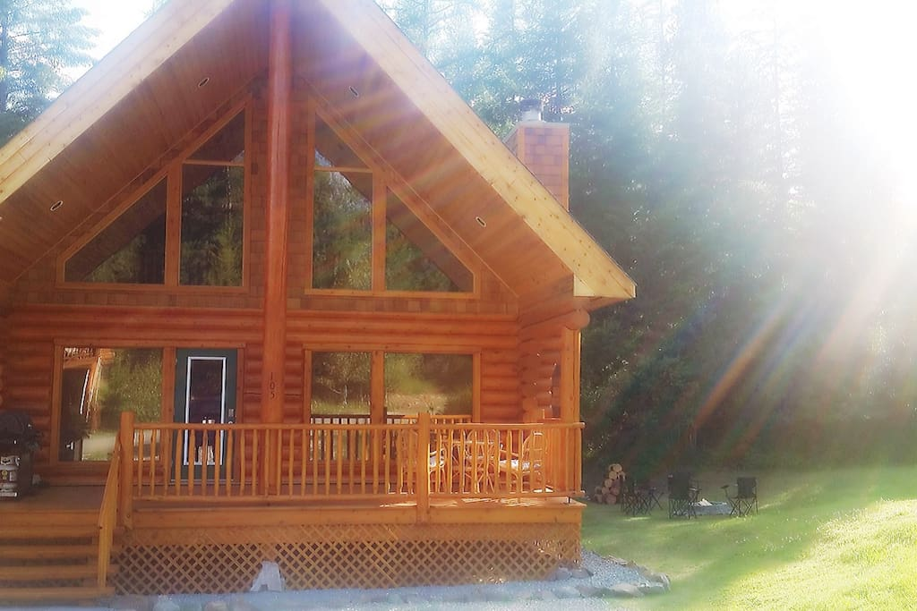Updated pic! Cabin newly renovated. Summers here are always bright, sunny, and HOT!