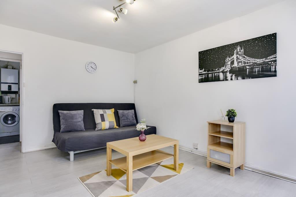 Light & spacious living area
