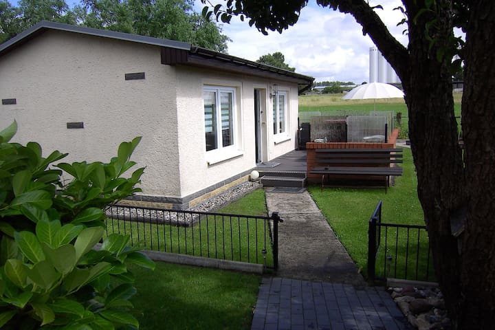 Farmstay Bungalow in Neubukow with garden with play area