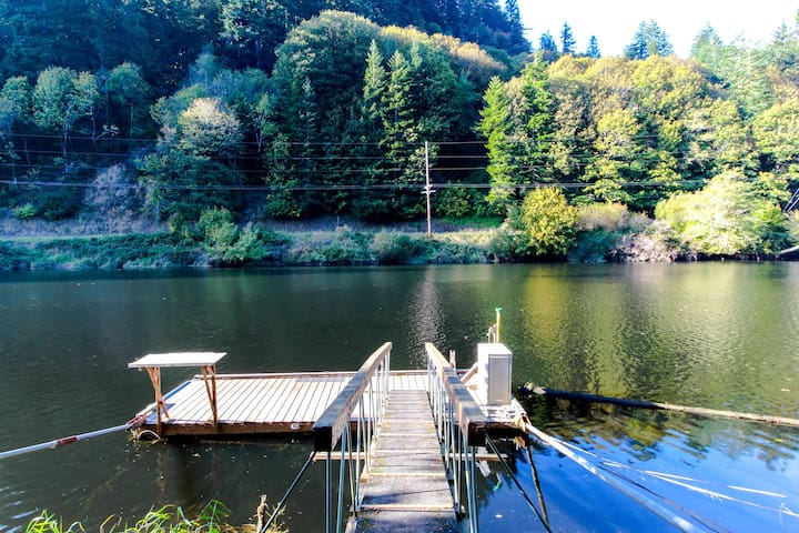 Recently remodeled home on the Alsea River w/ private dock!