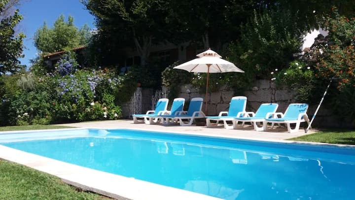 Villa with 3 bedrooms in Rubiães, with wonderful mountain view, private pool, enclosed garden - 30 km from the beach