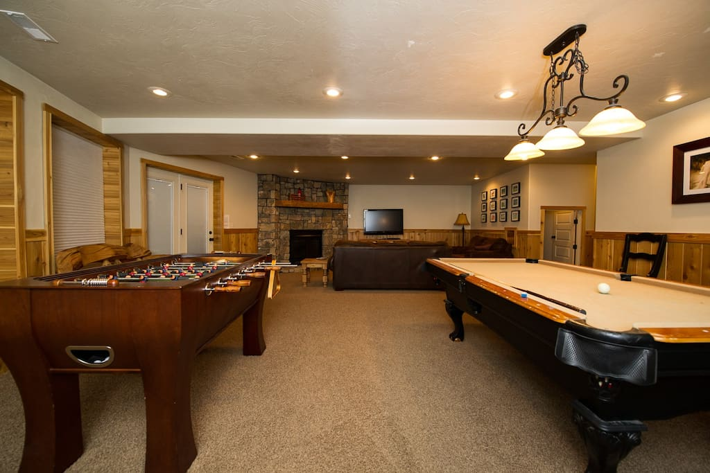 Downstairs family room
