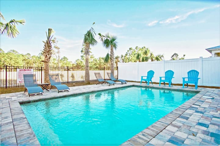 NEW Beach Home with PRIVATE POOL! 1 Blk to BEACH!