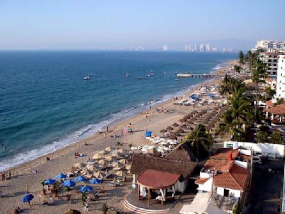 Arial photo of Los Muertos Beach