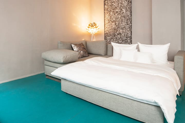 Living / Sleeping. Bed by Signet.