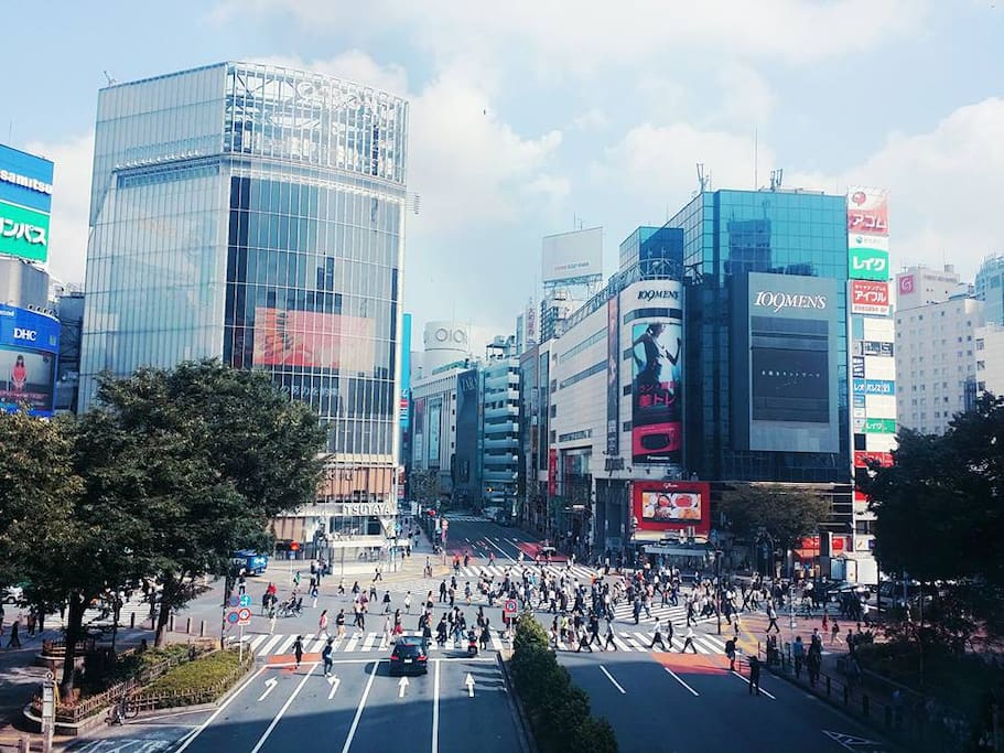 9min walk to Shibuya central