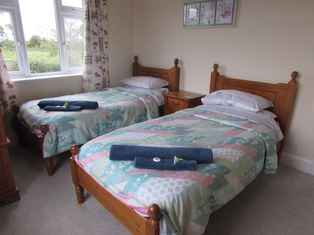 Comfortable Twin Room close to the Beach and City