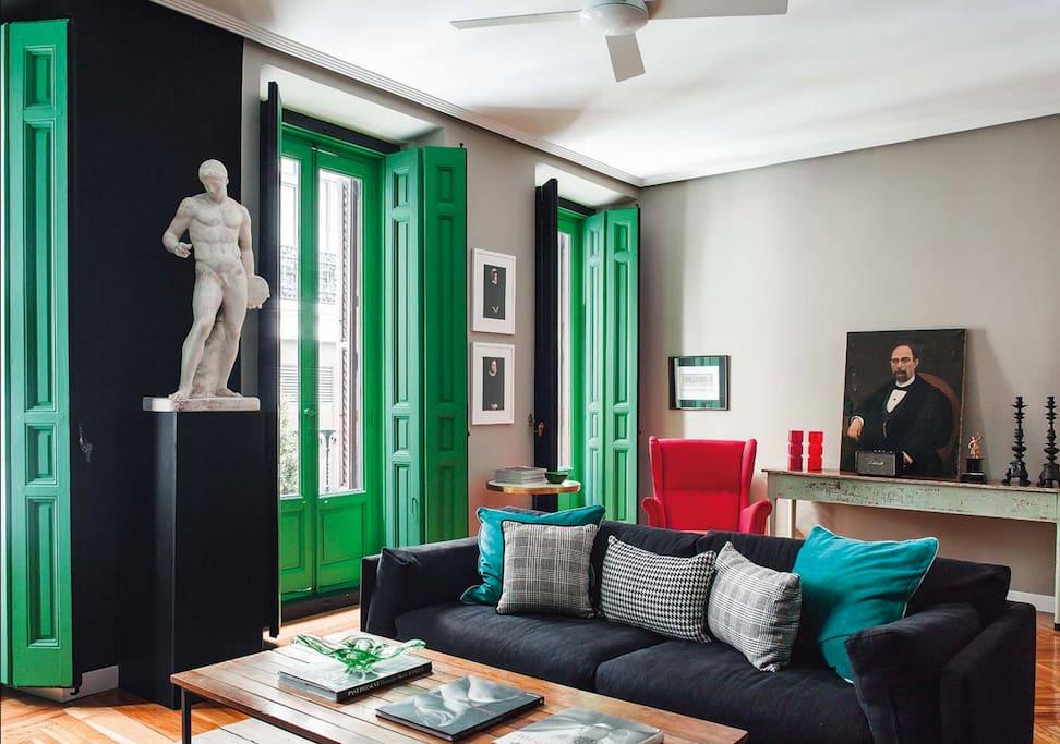 Gran via designer apartment apartamentos en alquiler en - Disenador de interiores madrid ...