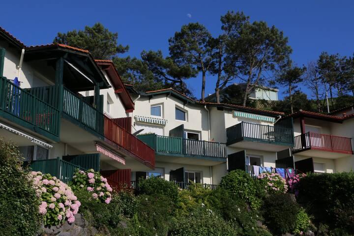 Biarritz Milady appartement boheme chic, vue mer