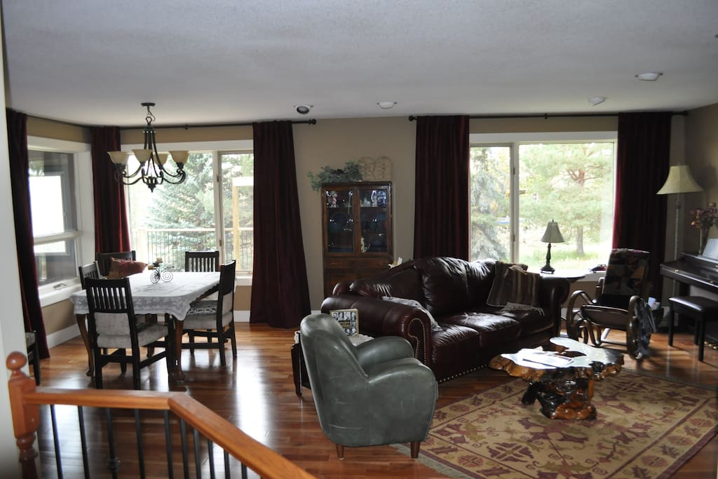 Spacious dining and living room.