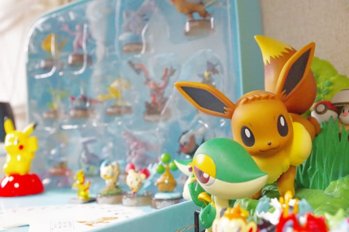 ☆POKEMON ROOM☆Near the station/Max 3 people