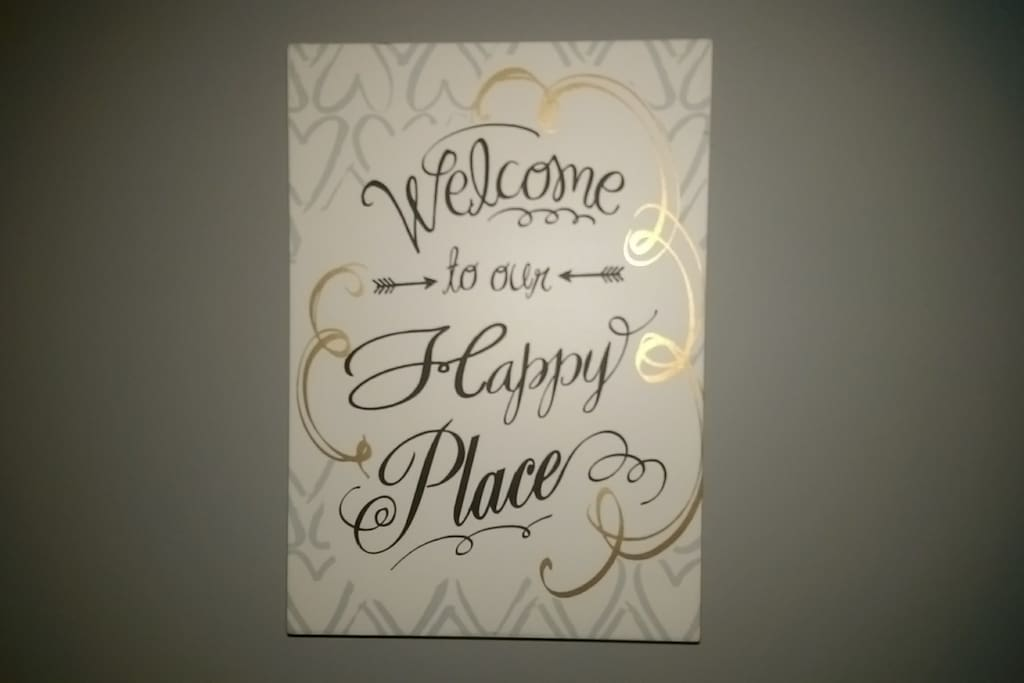 The apartment is a very happy place - make yourself at home!!
