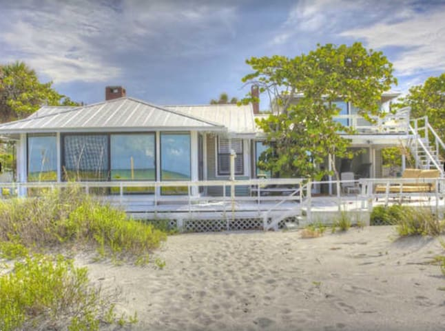 Family Beach House on Gulf of Mexico, Longboat Key