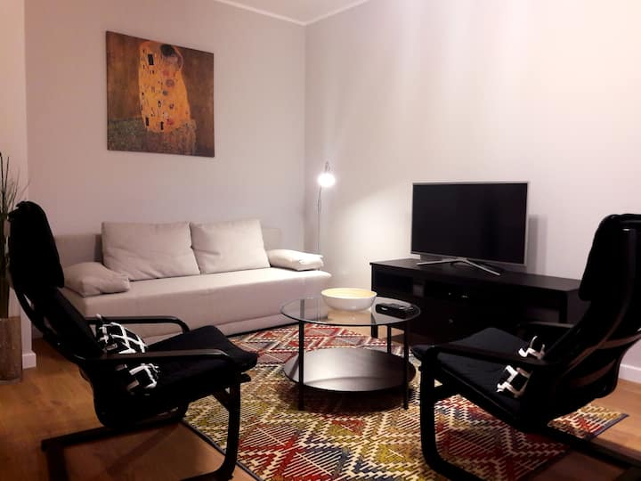 Modern and quiet in Royal Wilanów with AC, Netflix