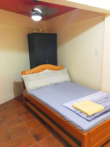 Room 1 - Fan room with Standard Double-Size Bed and Pull-out Bed