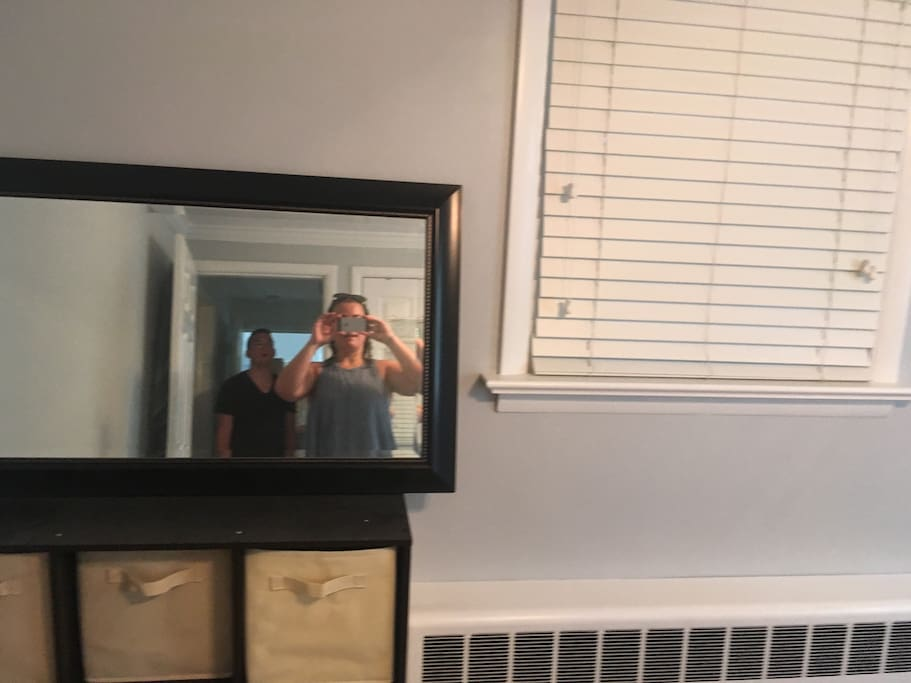 Mirror and storage a shout host!
