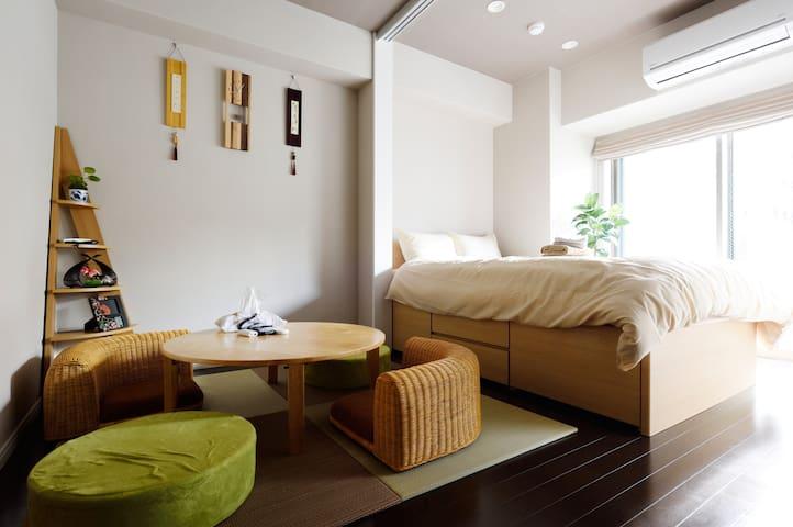 4min→Sta Near Namba 4pax $0Bike - Osaka - Apartamento