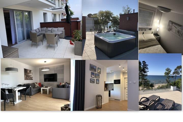 Apartament BD Premium Klifowa z widokiem na morze