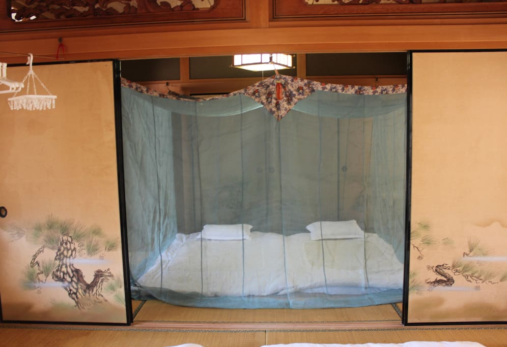 "During different seasons and depending on the number of guests, I have the rooms set up in different ways. This very old traditional ""kaya' is only used in March. Once April arrives, a modern mosquito net is used that ensures guests comfort."