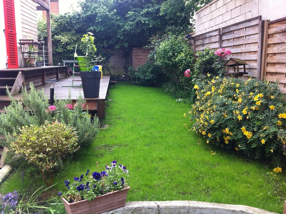 Un agr able jardin 11 mn de paris appartements louer colombes le de france france - Location maison jardin ile de france colombes ...