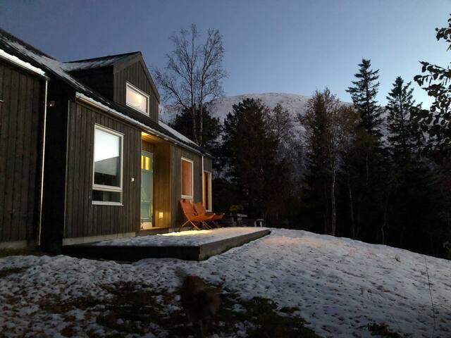 Moderne hytte i Storlidalen