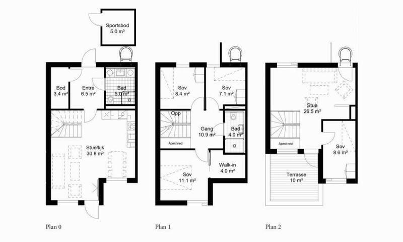 130 sqm near Oslo. Fam.friendly three storey house