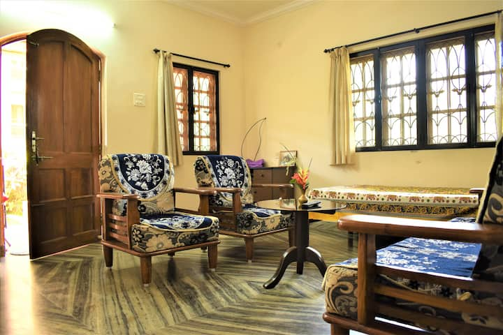 Classic 1 BHK in Benaulim, 700 meters from beach
