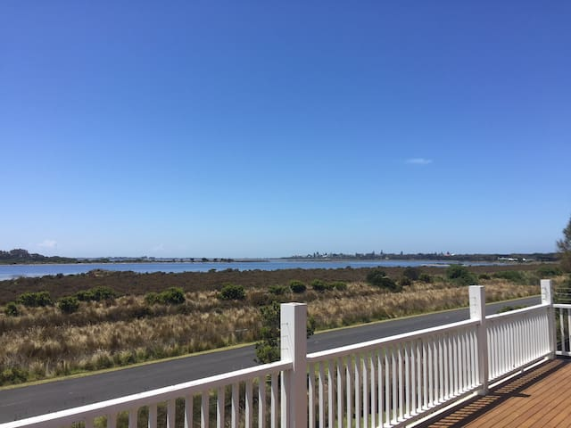 Beach House with Full View of Swan Bay