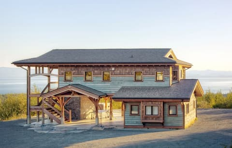 Ocean View Modern Timberframe on Vancouver Island