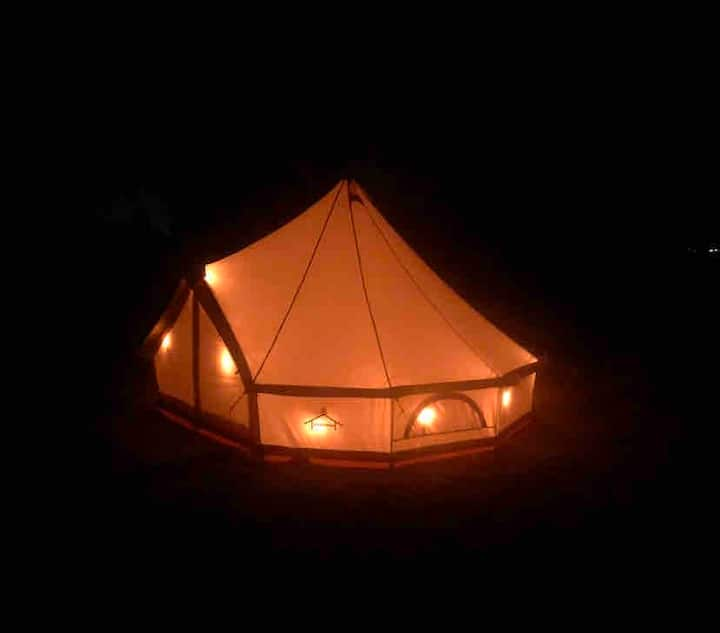 Safari Tent on Intracoastal Waterway