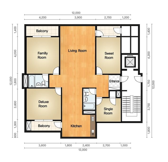 Jamsil guest house for groups appartamenti in affitto for Houseplans vivente del sud