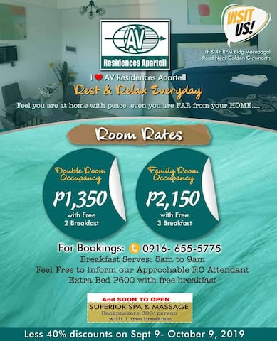 A home far away from home at AV Residences apartel