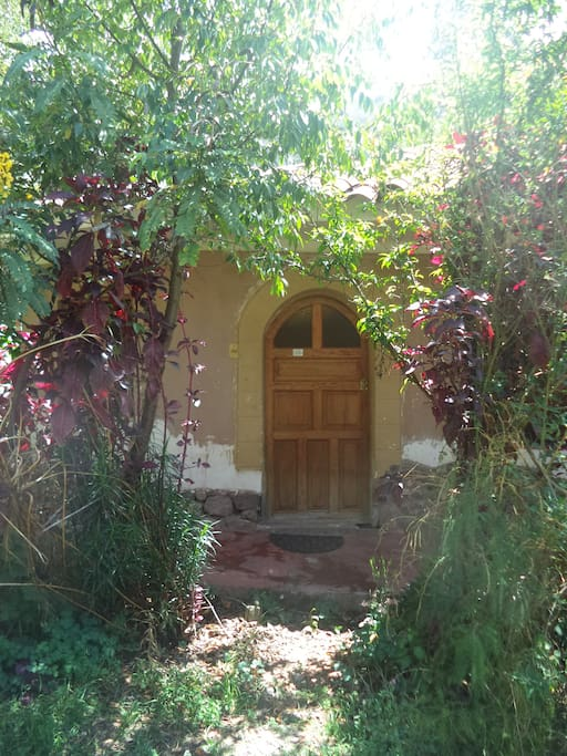 Private cottage entrance