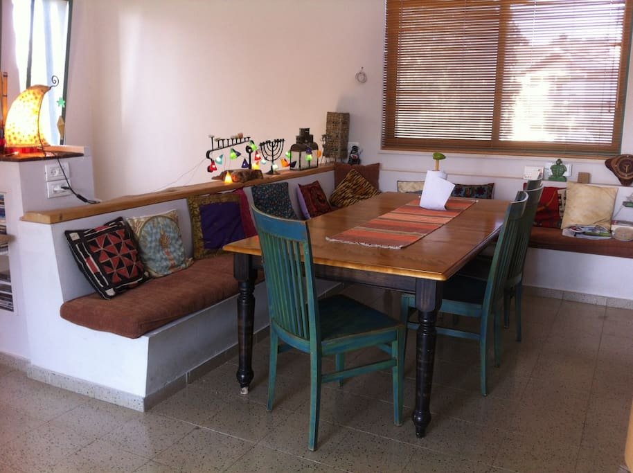 Dining table, all 3 first photos are parts of the same open space.