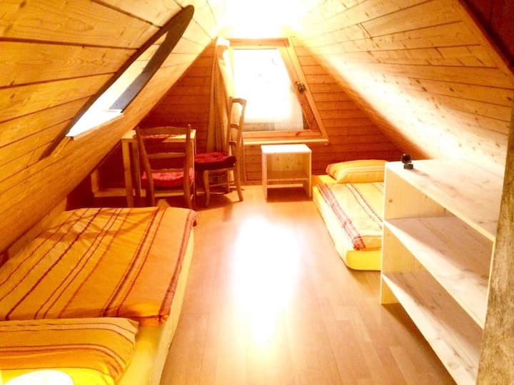 Small Attic Room in Synergy Village
