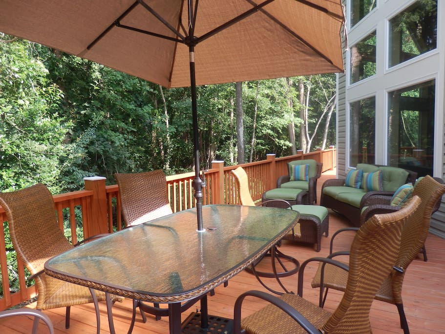 Enjoy our back deck.