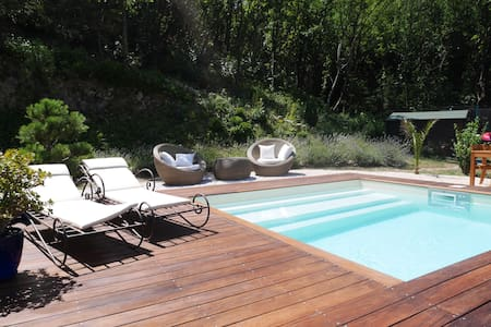 Chambre cosy, petit déj,piscine,vue extraordinaire - Mirmande - Bed & Breakfast