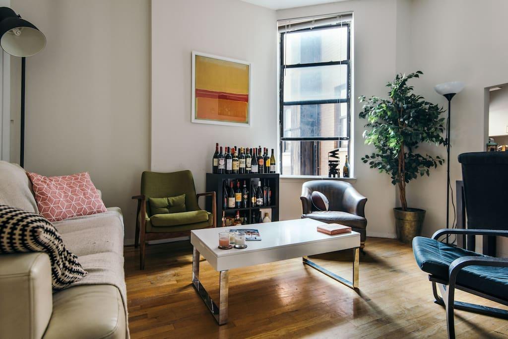Trendy living room