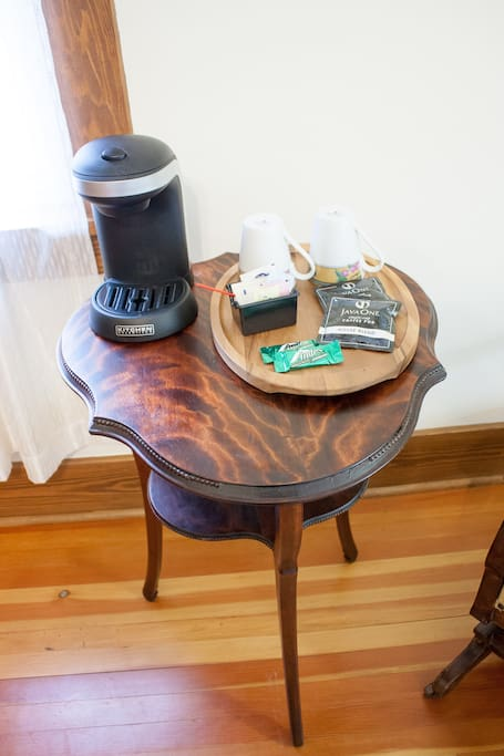 In-room coffee service
