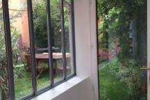 verrière sur jardin - bureau