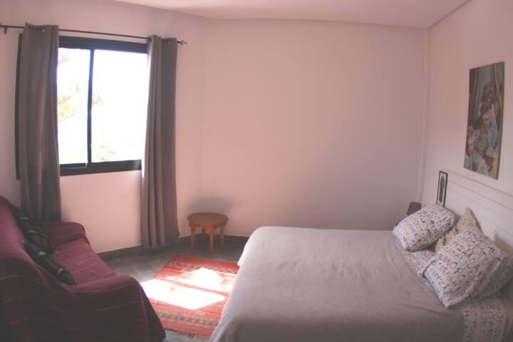 Spacious Double Room in ocean view villa.
