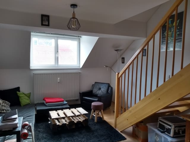 Room, with rooftop terrace in comfy flat