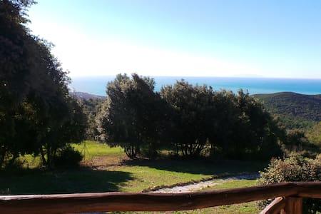 in collina con stupenda vista mare - Livorno - Huis
